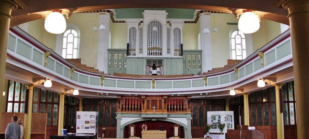 Interior of the Chapel Showing the Organ