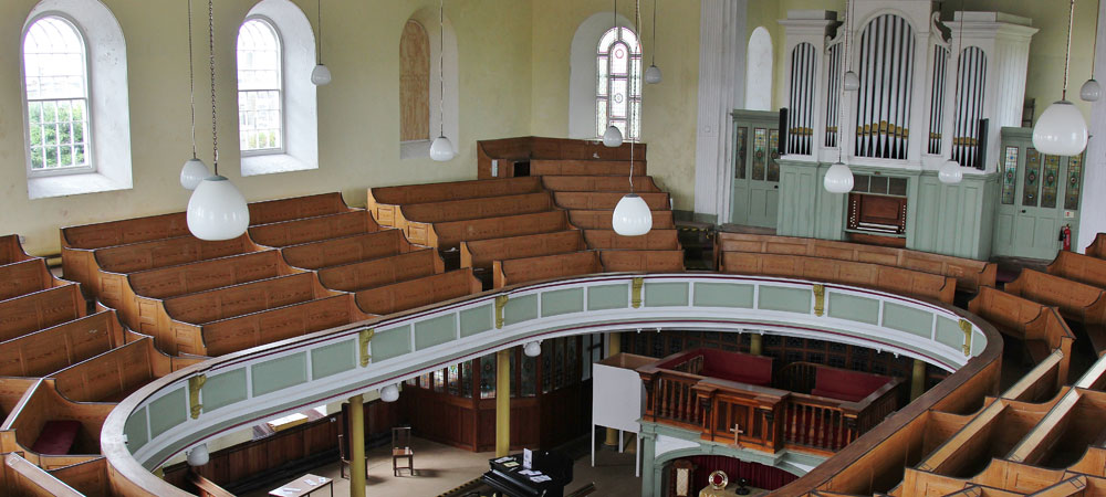 St Just Miners' Chapel Interior Showing the Organ